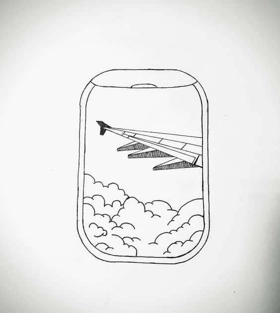 cute airplane drawing easy