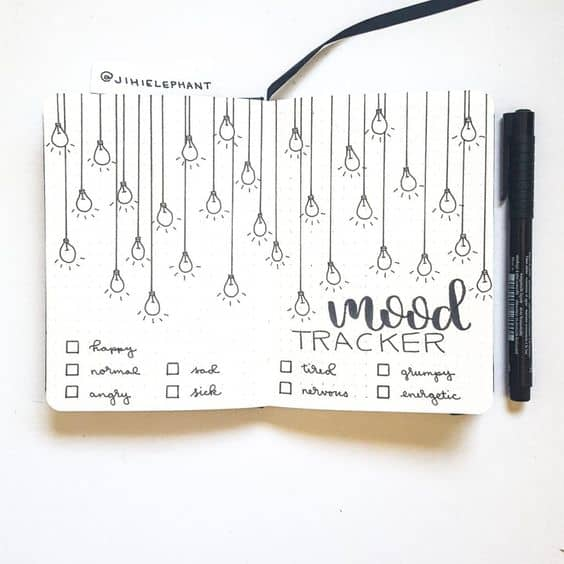 Bullet Journal Mood Tracker Spread