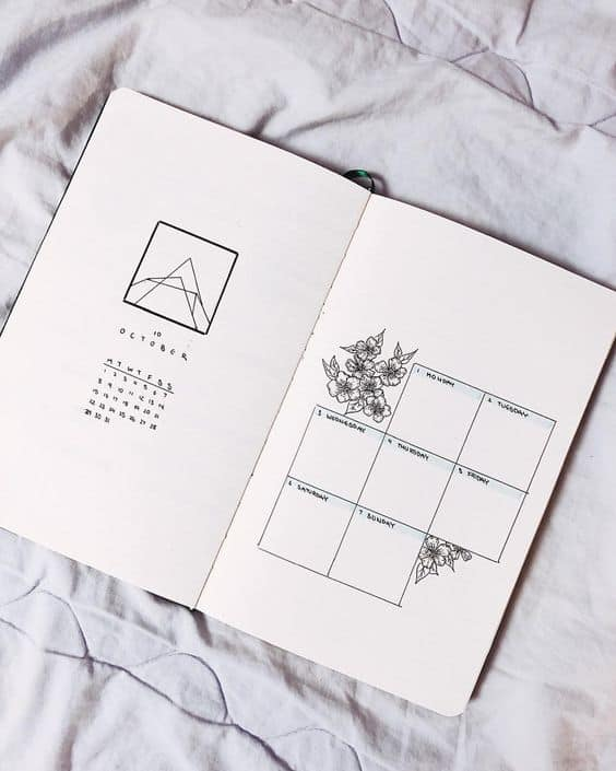 Minimalist Bullet Journal Spread