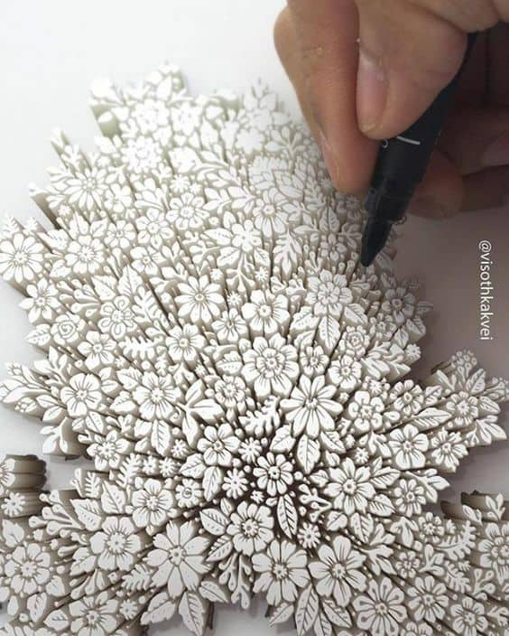 3d Flower Drawing - amazing drawing that looks 3d