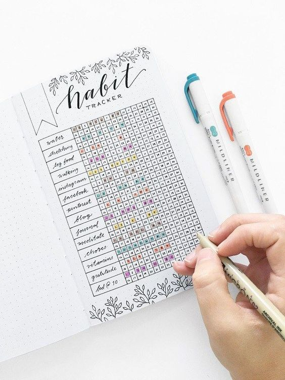 Habit Tracker Bullet Journal Ideas