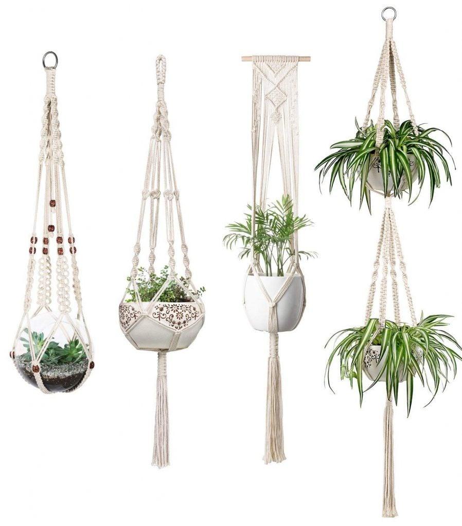 Desk Must Haves - Macrame Plant Hanging Pot