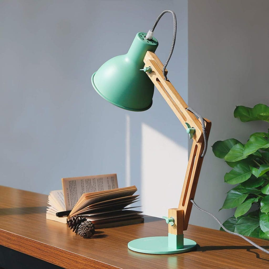 Desk Must Haves - Green Lamp
