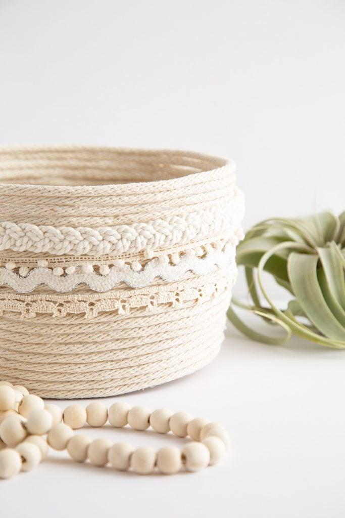 DIY Rope Planter Basket