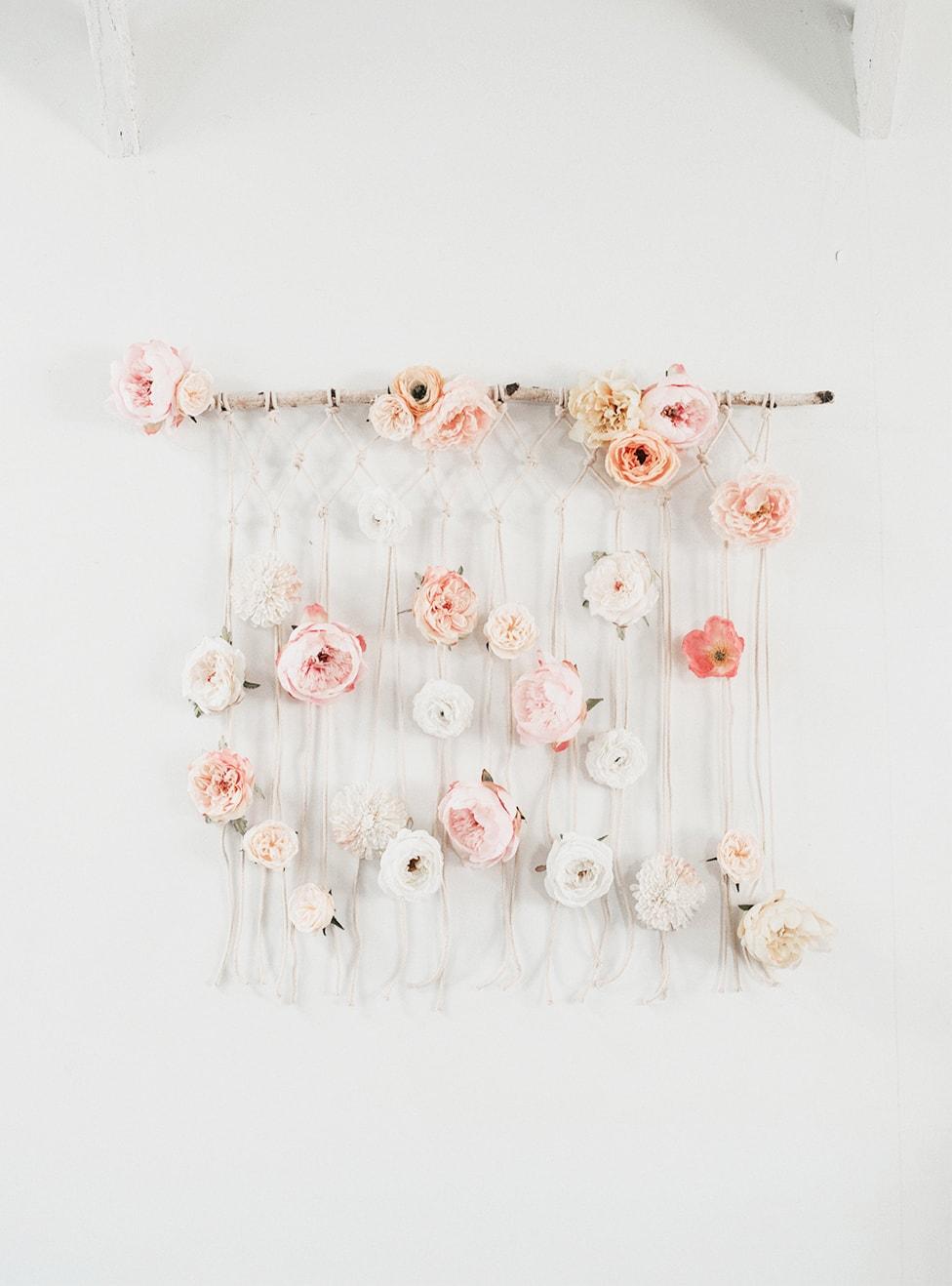 DIY Floral Macrame Wall Hanging