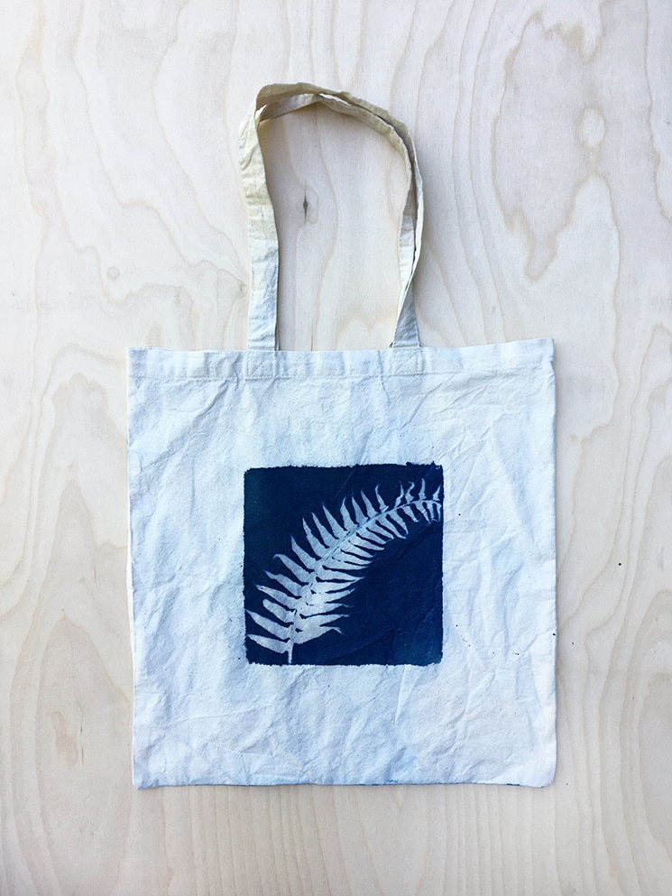 Cyanotype Tote Bag DIY Craft
