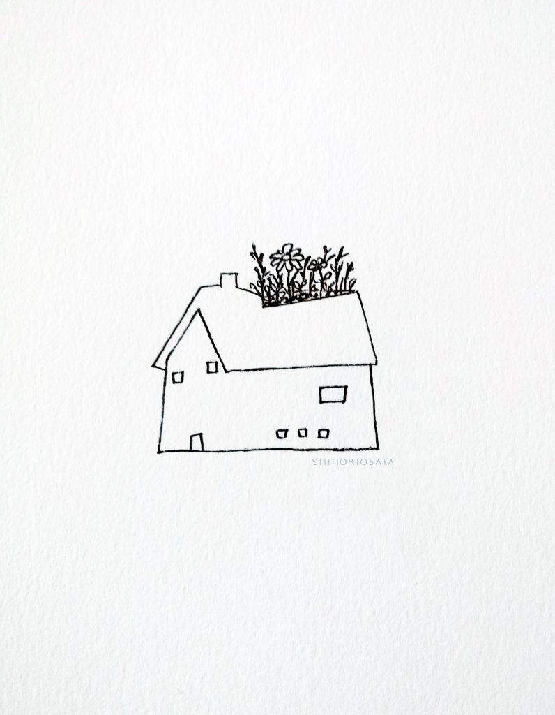 House with Flowers Drawing - Easy Doodle