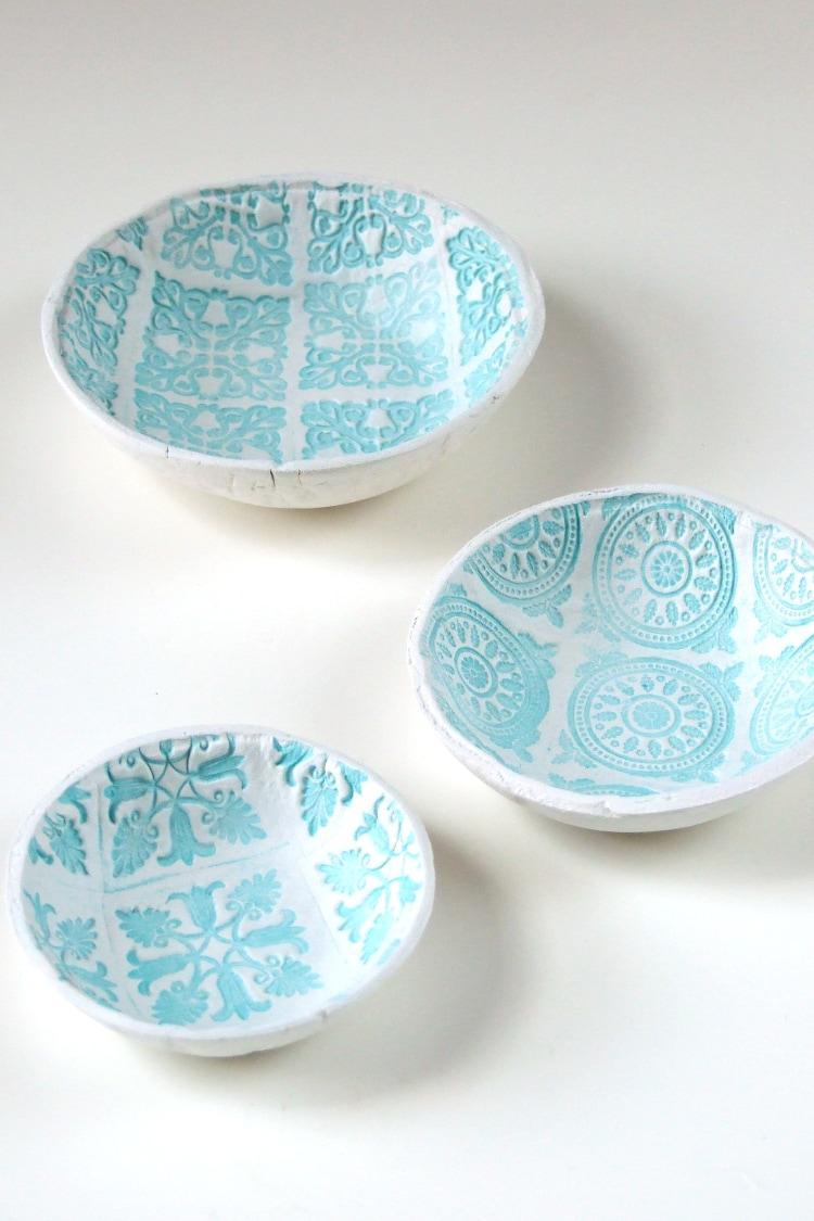 Stamped Clay Bowl DIY Craft