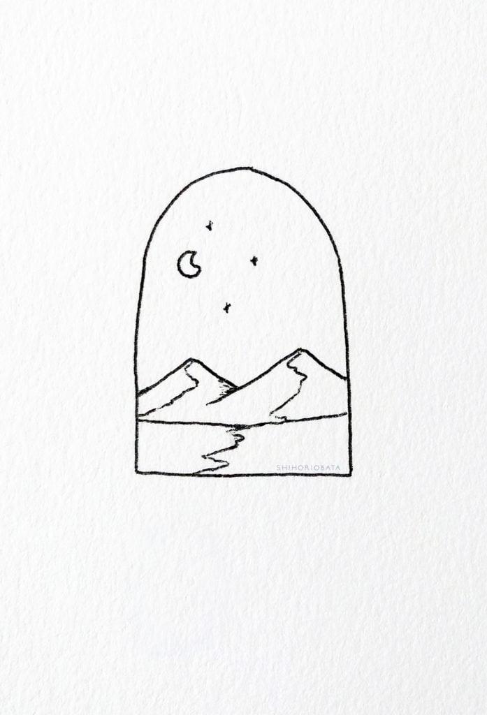 Mountain Drawing Idea
