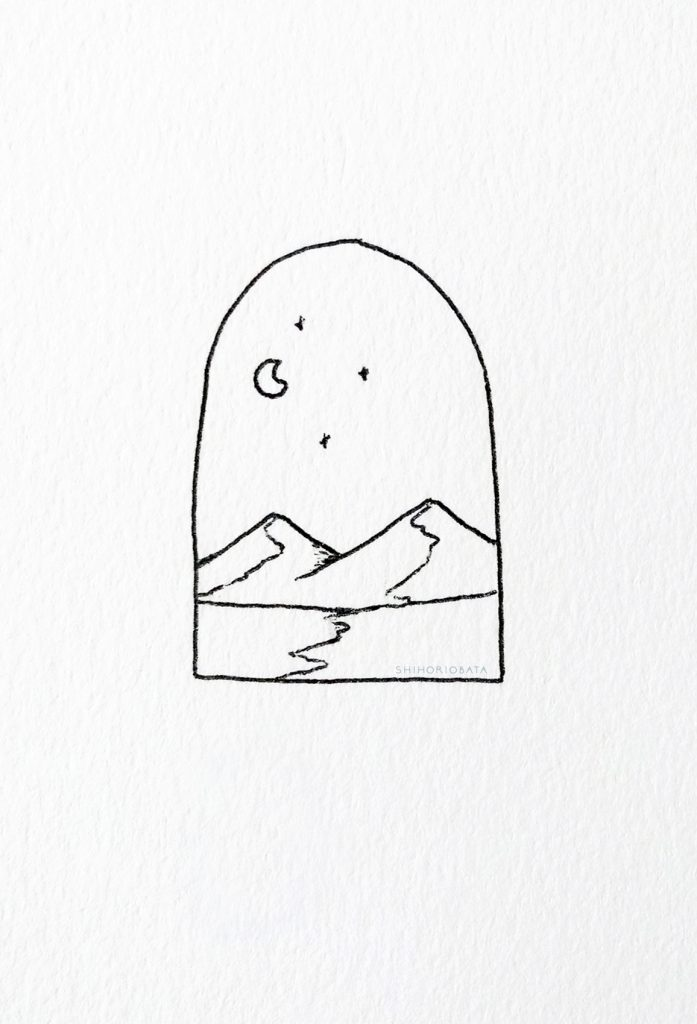 Mountain Drawing Idea