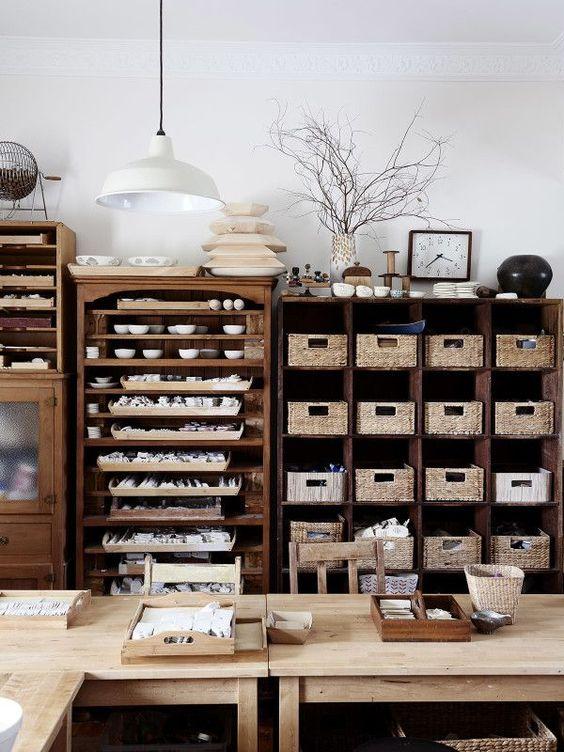 Studio or Craft Room Organization