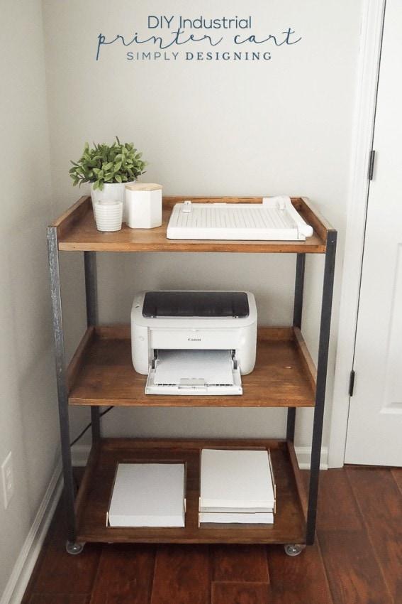 DIY Industrial Cart - Home Organization Ideas