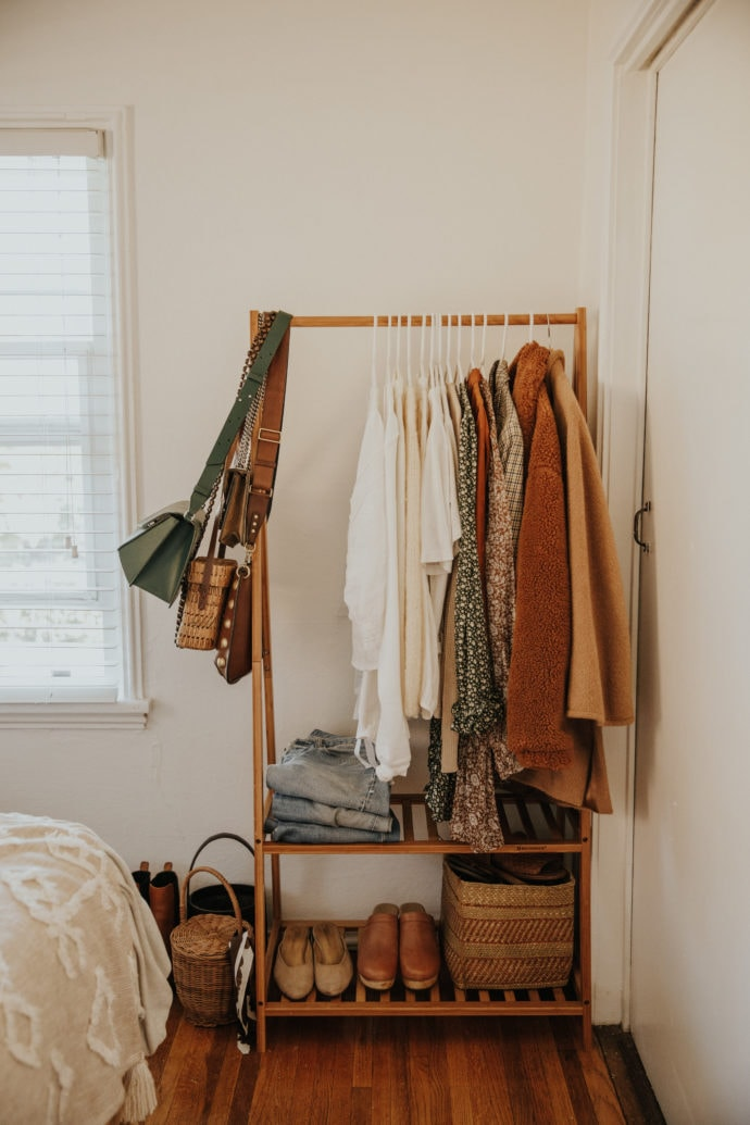 Home Organization Ideas - Clothing Rack