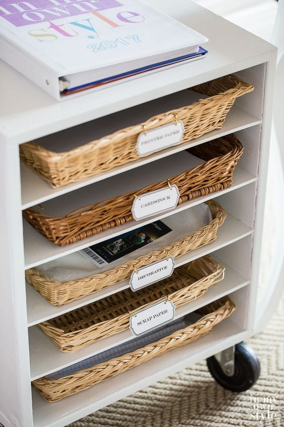 Office and Craft Room Organization Ideas