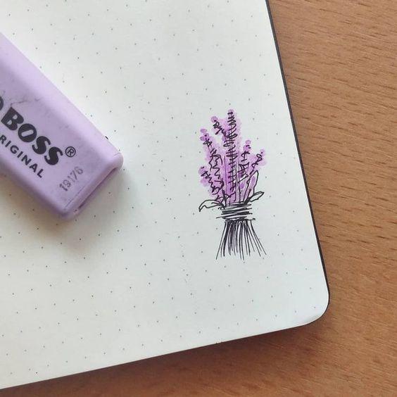 Lavender Flower Drawing