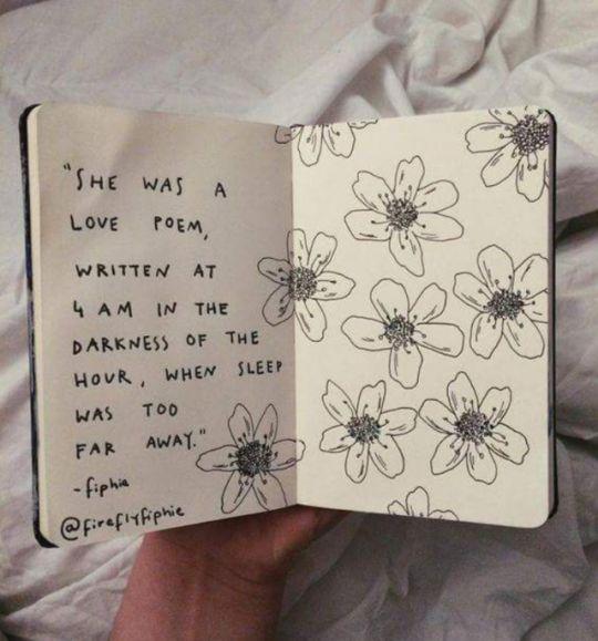 Floral Drawing - Art Sketchbook