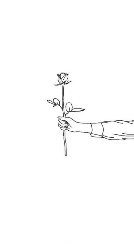 Holding a Rose Drawing