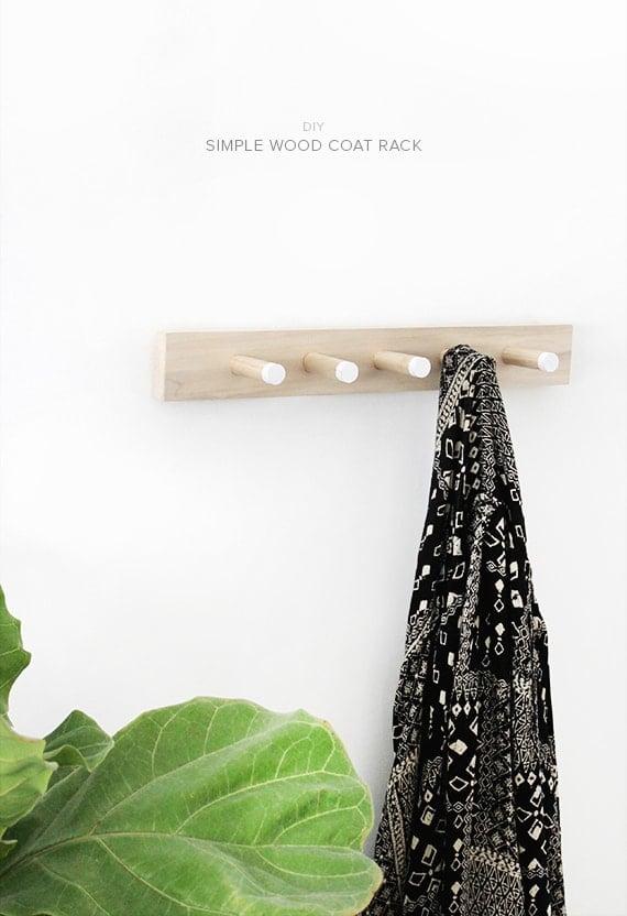 DIY Coat Rack - Home Organization