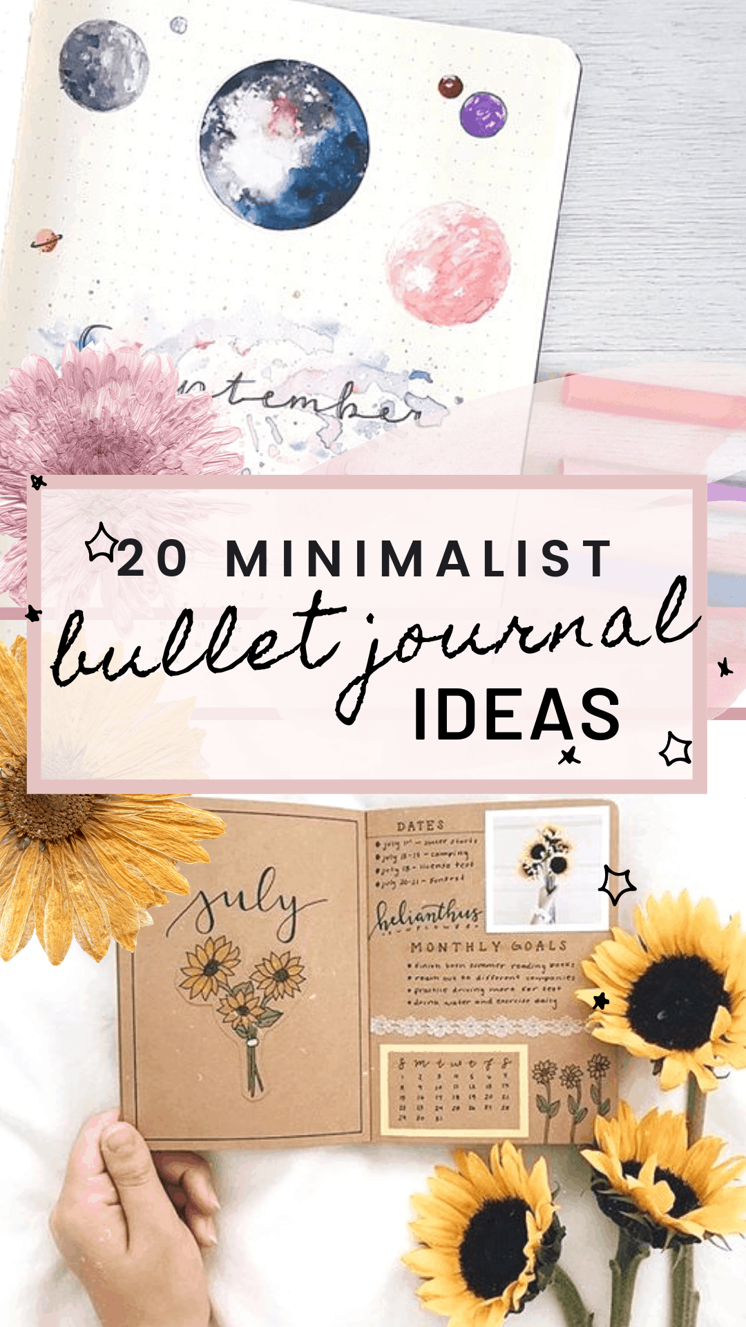 20 Minimalist Bullet Journal Ideas