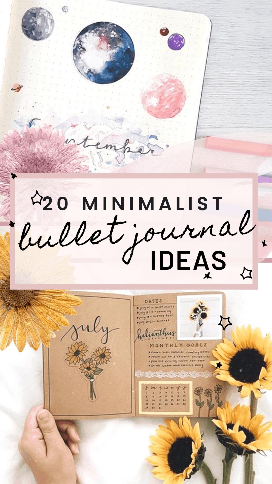 20 Minimalist Bullet Journal Ideas