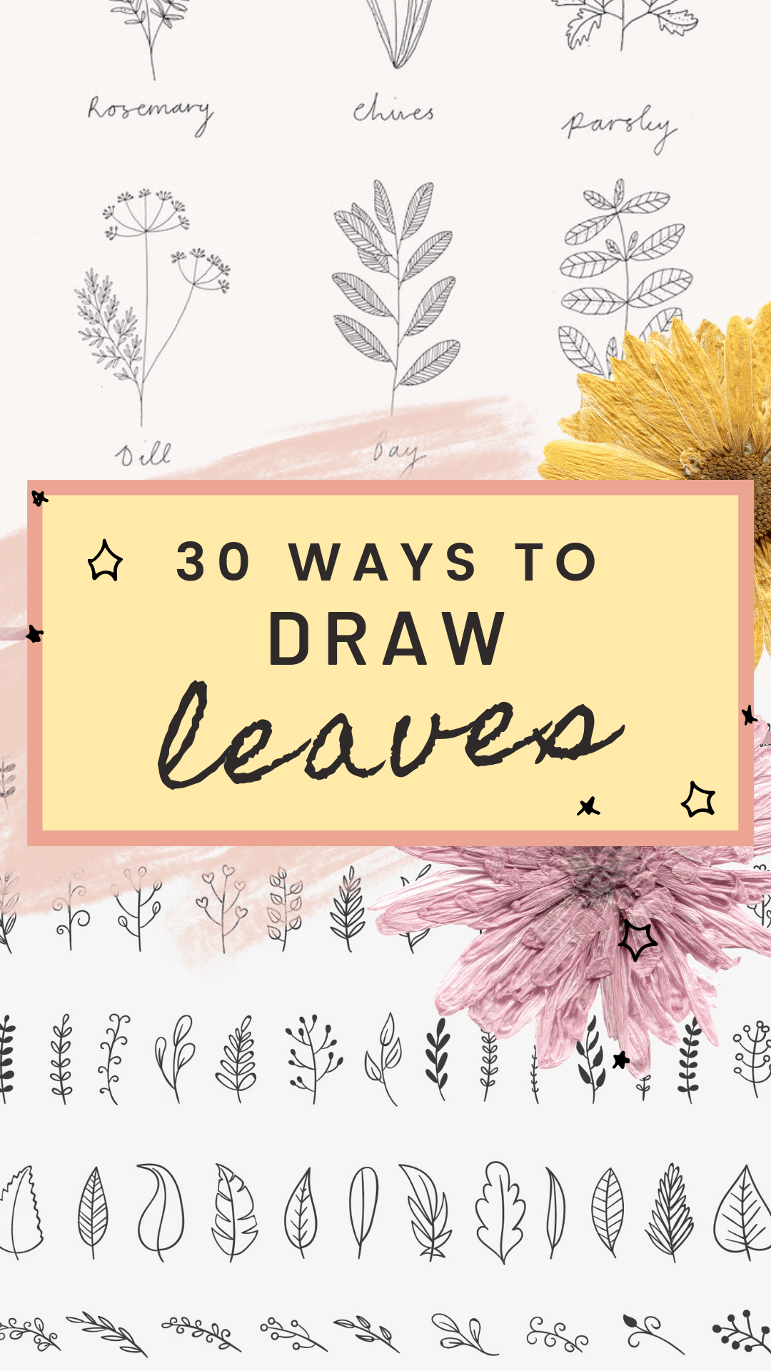 30 Ways to Draw Plants and Leaves