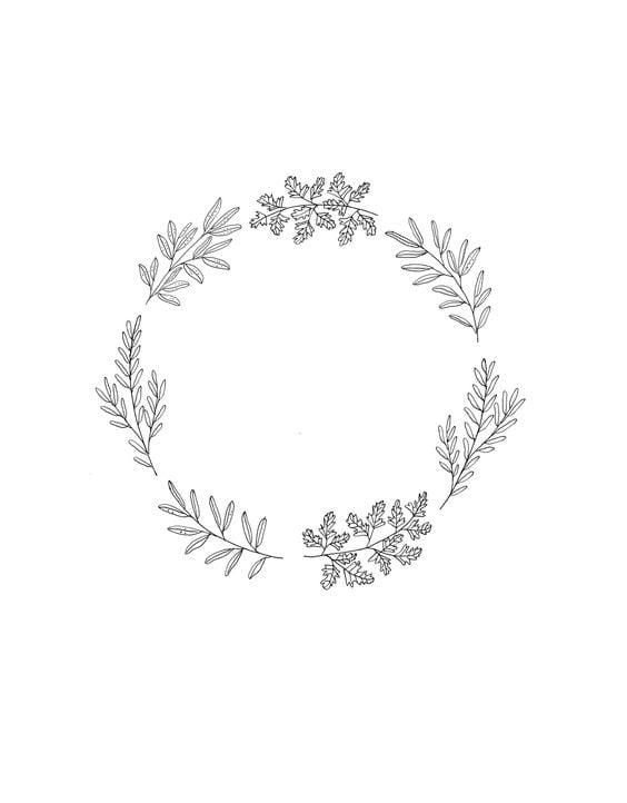 How to Draw Plants - Wreath