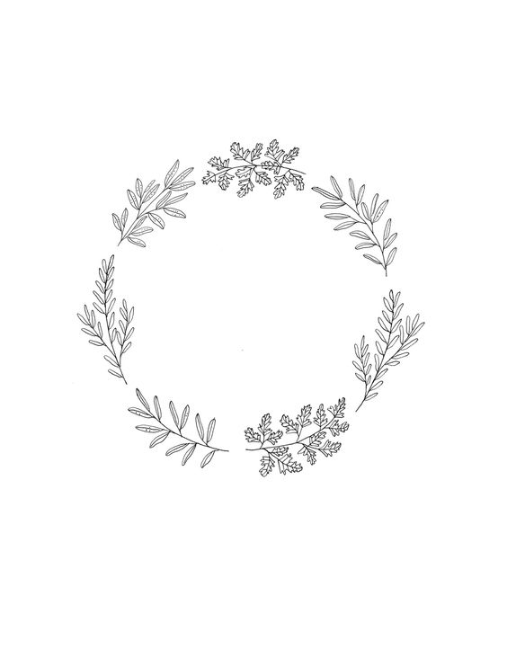 How to Draw Plants - Wreath