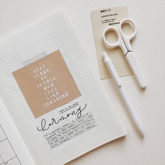 Bullet Journal Ideas Minimalism