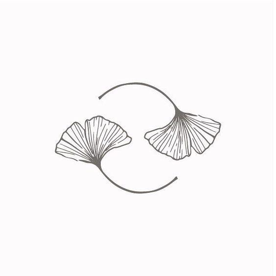 Gingko Leaf Drawing