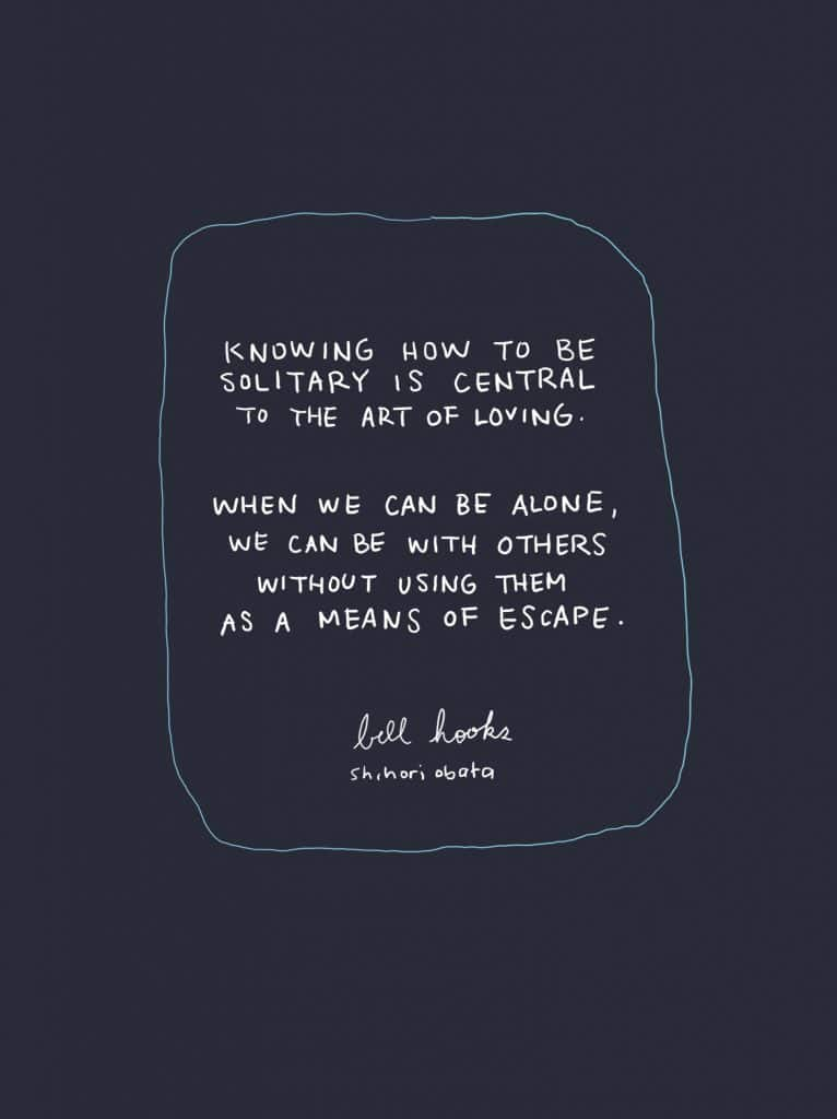 Knowing how to be solitary quote