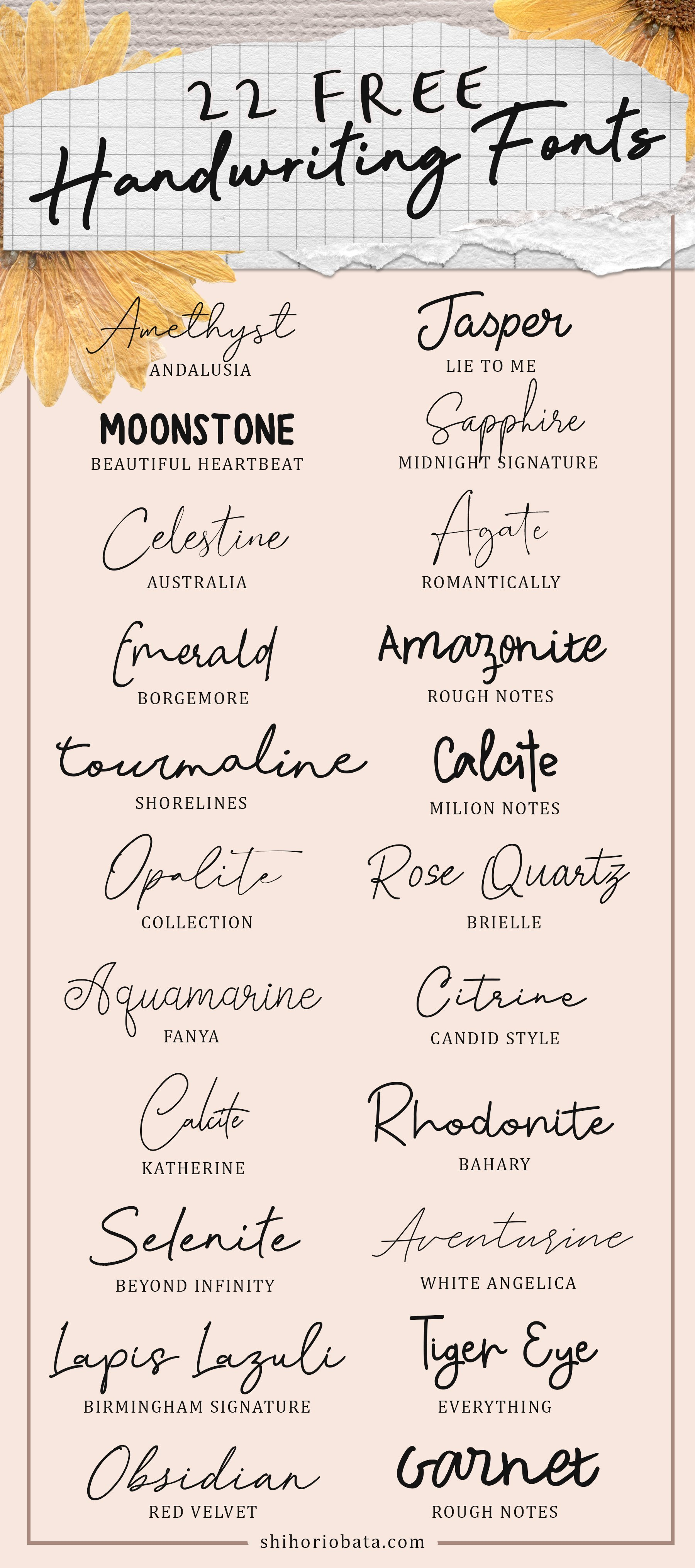 22 Free Handwriting Fonts #fonts