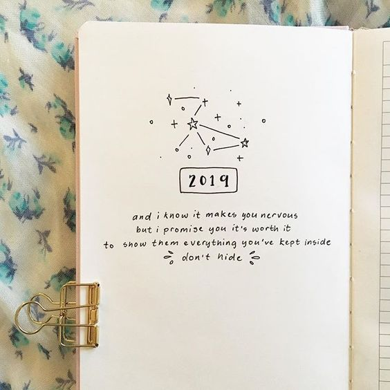 Bullet Journal Quote Ideas Drawing