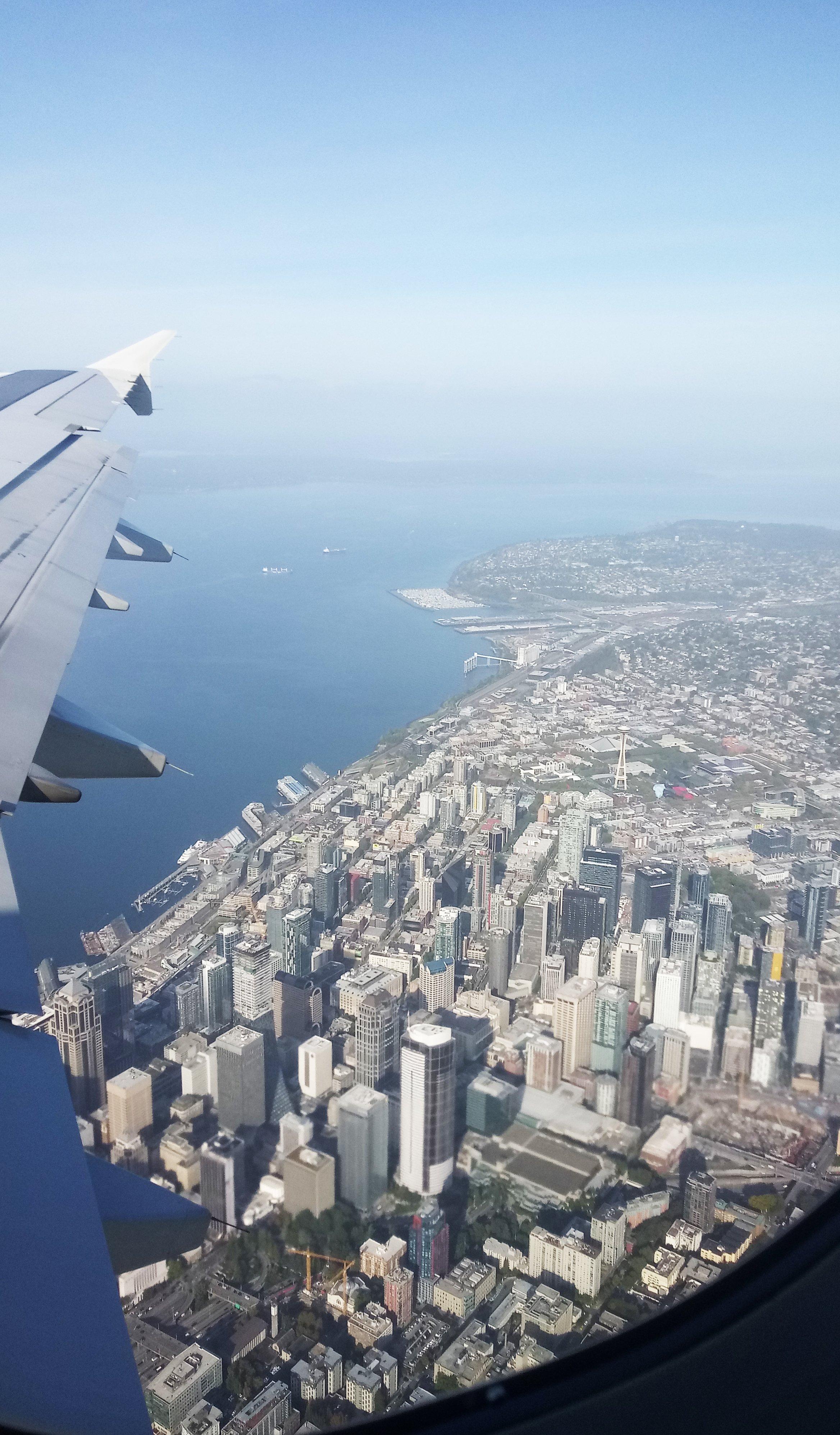 Seattle Trip Plane View