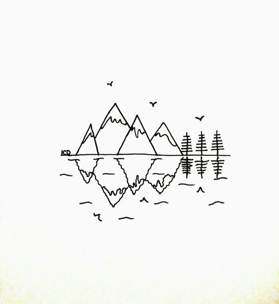 Drawing Mountains Easy