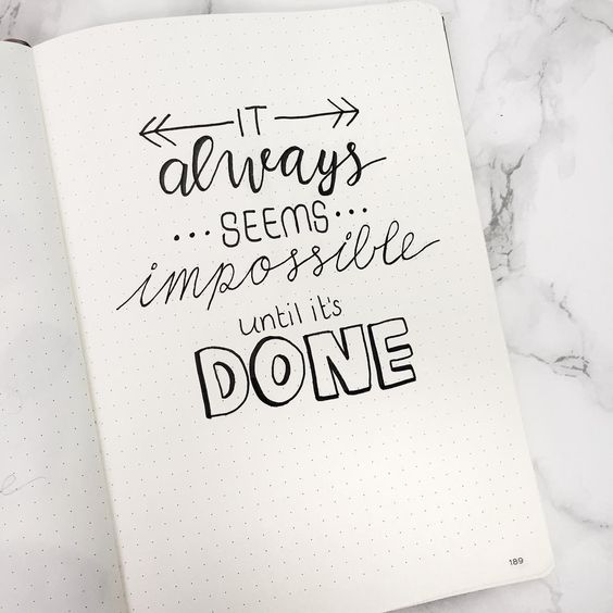 Bullet Journal Inspirational Quotes