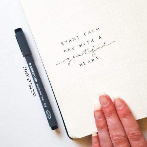 Inspirational Quotes Page in Journal
