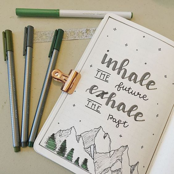 Bullet Journal Quotes Page