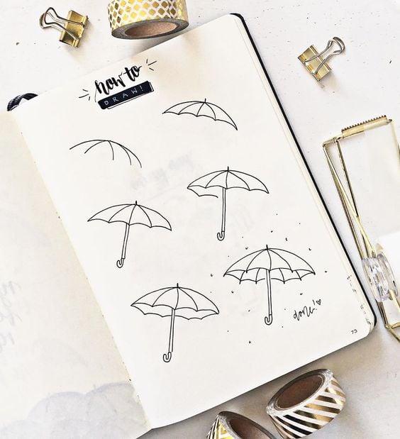 Umbrella Drawing Idea Easy