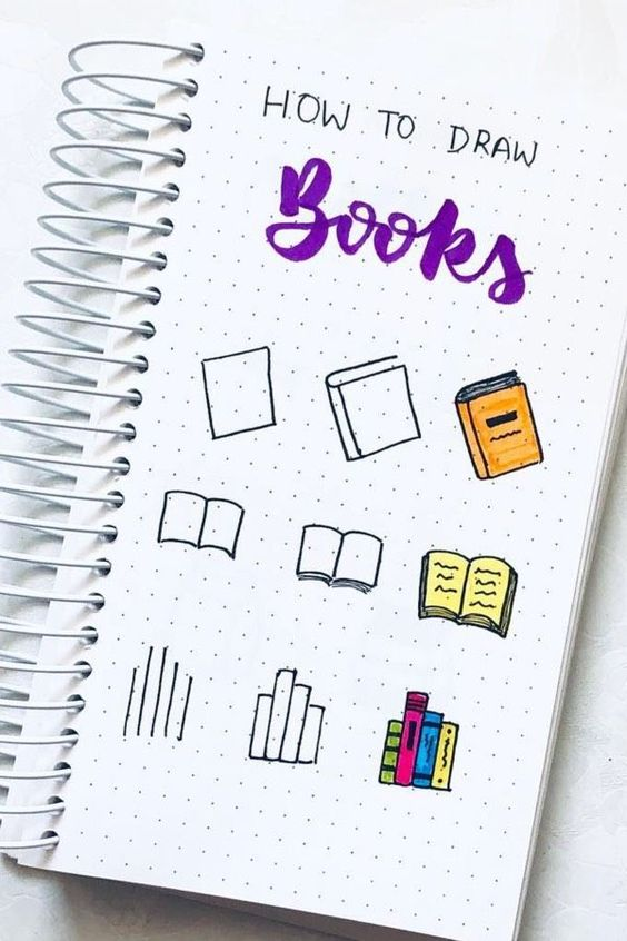 Book Drawing Ideas