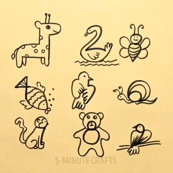 Easy Animal Drawing idea