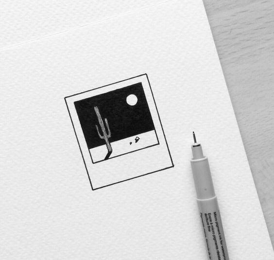 Easy Polaroid Drawing Idea