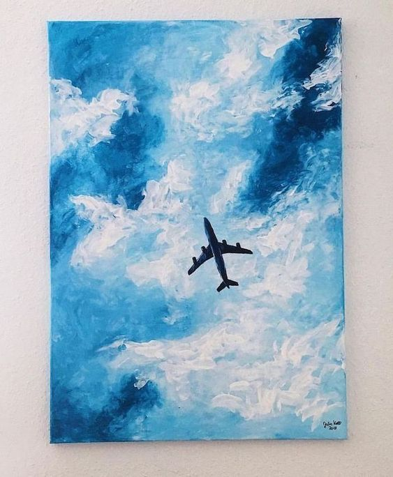 easy diy canvas painting idea