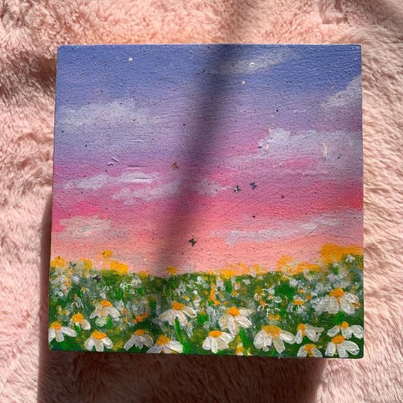 Easy mini canvas painting idea
