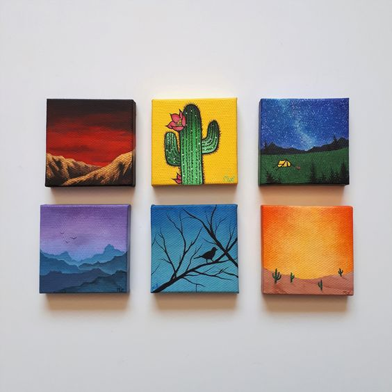 Easy Mini canvas painting ideas