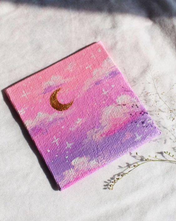 simple canvas painting idea