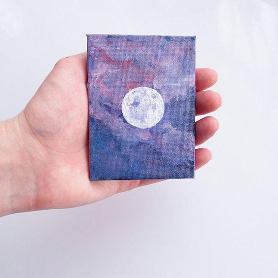 easy miniature canvas painting