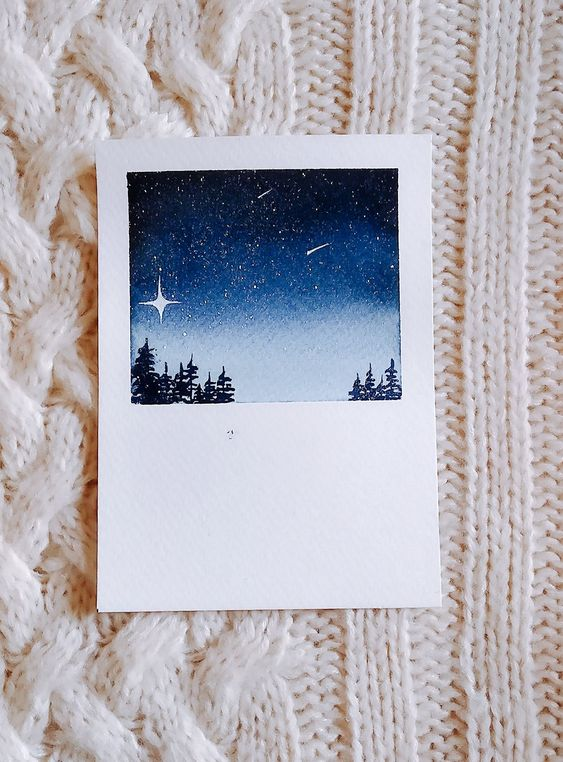 Easy Watercolor Polaroid Art