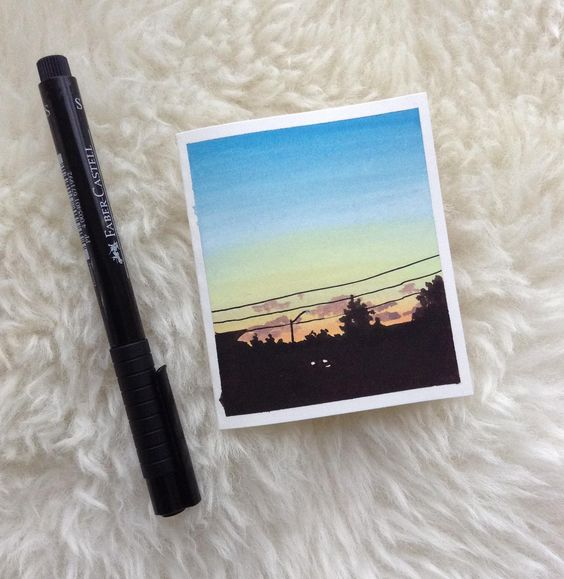 Easy Watercolor Polaroid Mini Art