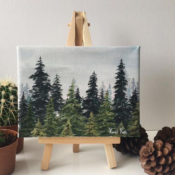 Easy DIY canvas painting idea