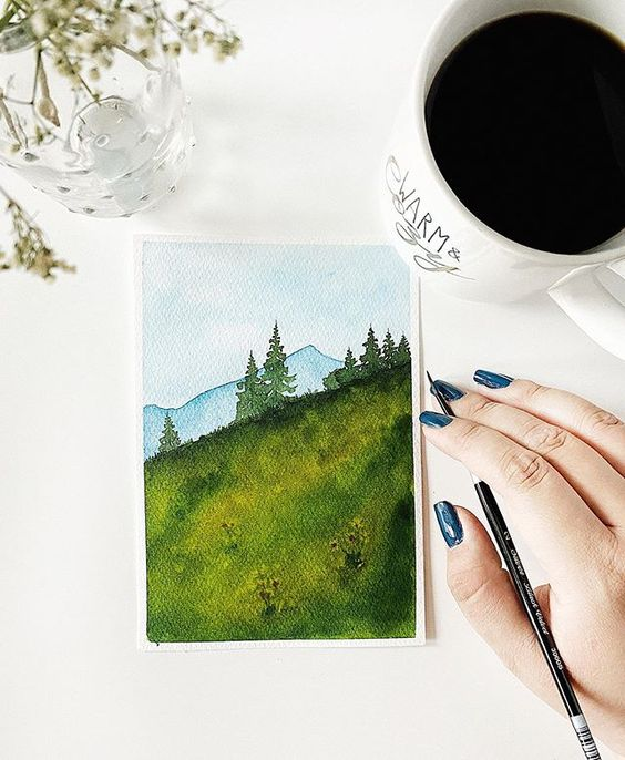 Easy Watercolor Landscape Art